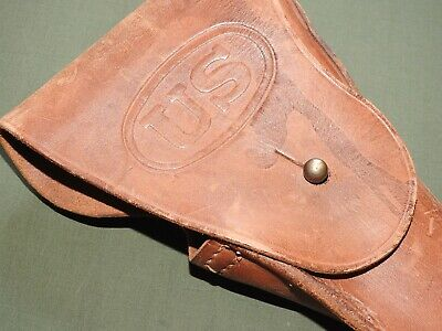 US Army USMC Marine WW2 COLT 1911 .45 ENGER-KRESS M-1916 LEATHER PISTOL HOLSTER