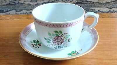 Adams Calyx Ware Hand Painted Large Breakfast Cup & Saucer