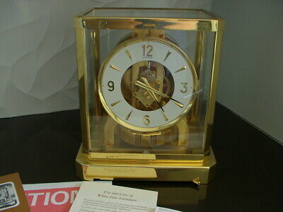 Jaegar-Lecoultre Atmos Clock With Papers, Beautiful Plating