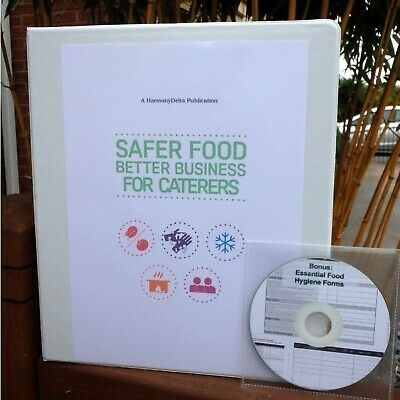 2019 Safer Food Better Business SFBB Caterer Pack & 24 Month Diary & CD & SIGN