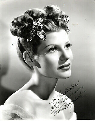 American Beauty,  Actress & Dancer Rita Hayworth  ,Signed Vintage Studio Photo.