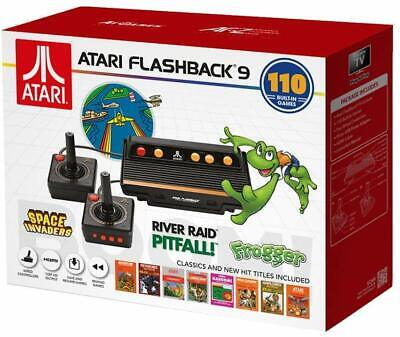 Atari Flashback 9, HDMI Game Console, 110 Games, Joystick Controllers, Black