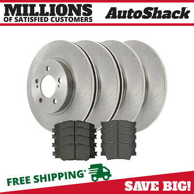 F+R Rotors /& Pads for 2006-2014 Toyota RAV4 model w// 4 Cylinder /& 2 row seat