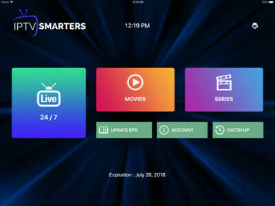1 YEAR IPTV SUBSCRIPTION Via IPTV smarters +13000 channels and 7000 VOD XTREAMCO