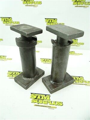 """Pair Of Ingersoll Machinists Jack Stands 7-1/2"""" To 12-2/4"""" & 7-3/4"""" To 12-3/4"""""""