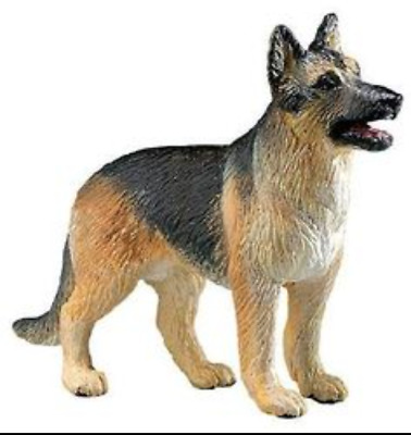 German Shepherd Dog Figurine Brown Tan Black White Minature Puppy Pup Toy New