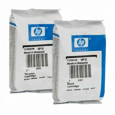 Genuine HP #61 2-pack Combo Ink Cartridges 61 Black and Color NEW