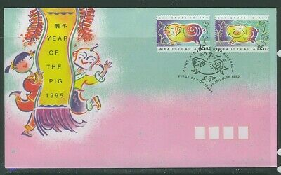 Christmas Island 1995 Year of Pig  APM27380 First Day Cover
