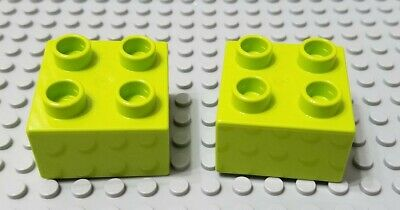 Lego 5 New Lime Green Brick Pieces 2 x 2 Dot Parts