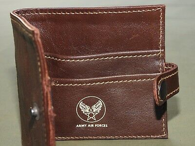 US Army AAF WW2 EASTMAN OFFICER ROUGH WEAR A-2 DARK HORSEHIDE LEATHER WALLET NWT