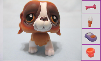 Littlest Pet Shop Dog St. Bernard 229 and Free Accessory Authentic Lps