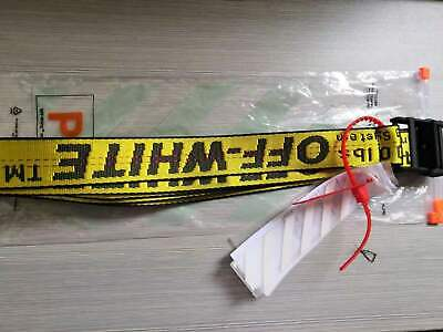 ²OFF WHITE²² Yellow belt high street canvas embroidery belt fashion belt