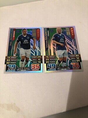 Match Attax 2016 2017 Everton Two Rare Pro 11 Cards Mint