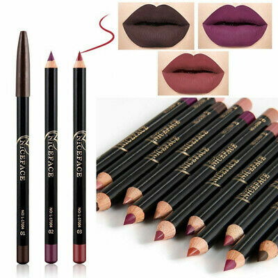 12 Colors Pro Makeup Pen Waterproof Eyebrow Lip Liner Eyeliner Pencil Cosmetics