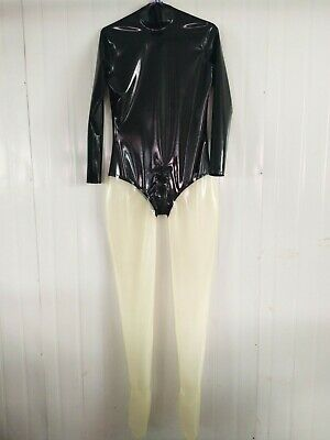 Latex Gummi Rubber Anzug BodySuit Catsuit Party Overall Ganzanzug Bodysuit 0.4mm
