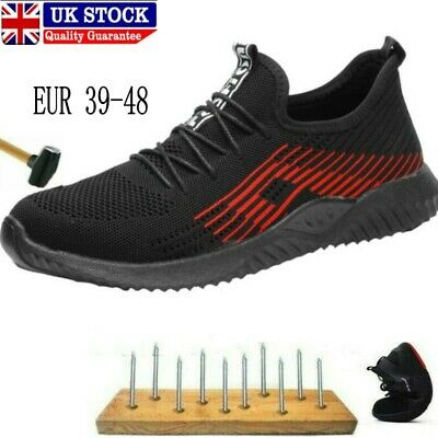 Mens Safety Shoes Trainers Steel Toe Work Boots Sports Hiking Shoes Sneakers UK