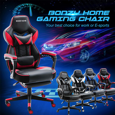Racing Gaming Chair High Back Computer Desk Office Chair 360 Swivel Wide Seat