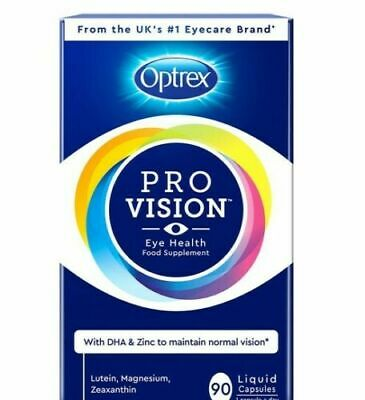 NEW Optrex ProVision Eye Health Supplement 3 Month Supply 90 Liquid Capsules