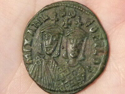 MICHAEL II + THEOPHILUS 821-29 Ancient Byzantine Coin 32mm BEST on EBAY ! #Q279