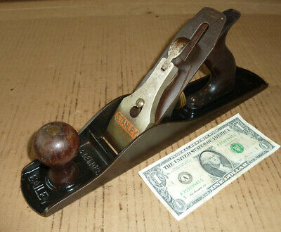 Vintage Stanley Bailey USA Wood Plane,No.5C,Corrugated,Old Woodworking Tool,Work