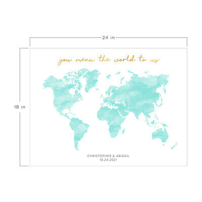 PERSONALIZED WEDDING GUEST BOOK ALTERNATIVE you mean the world to us Map