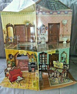 Victorian Trading Co Pop Up Dollhouse Book Three-Dimensional>PAPER DOLLS>8 ROOMS