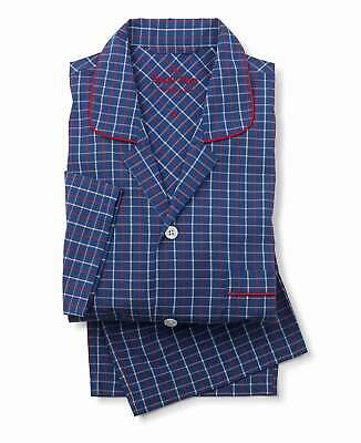 Navy Red Beige Checked Pyjamas