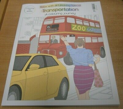 Relax with Art magazine Holiday Special #29 2019 Transportation Colouring Journe
