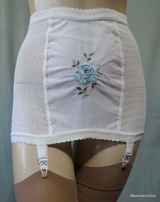 "St MICHAEL M&S VINTAGE ROLL-ON BRI-NYLON OPEN GIRDLE Sm/Med Waist 25/26"" NWT  j"