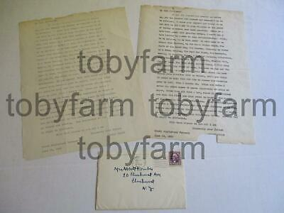 1933 Original Robert Frost Typed Letters To Elmhurst Ny School Favorite Poem