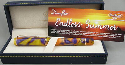 Conklin Duraflex Endless Summer Limited Edition Fountain Pen - New -Omniflex Nib