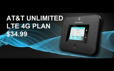 AT&T Unlimited 4G LTE Data Plan No Contract $34.99/Month Hotspot Phone