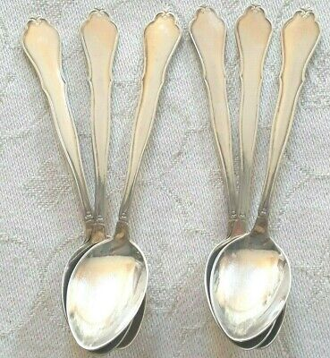 Vintage Swedish nickel silver coffee spoons by Mema