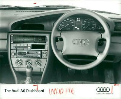 Photograph of The Audi A6 dashboard