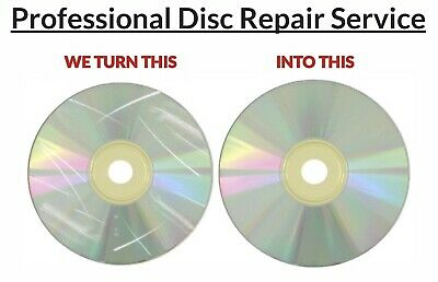 3x Disc Repair Service Scratch Removal CDs DVDs Video Games Movies Audio Books