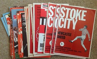 Job Lot x 29 Stoke City Homes 1970's All Listed Newcastle Liverpool United City