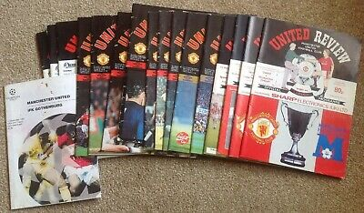 Job Lot 18 Manchester United Homes All Listed 1990s Europeean Red Star Villa etc
