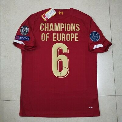 Liverpool FC Home Shirt 2019-2020 with CHAMPIONS LEAGUE BADGES , Medium