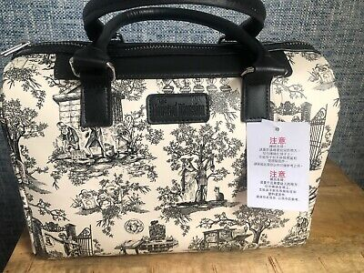 Disney Parks Haunted Mansion Toile Satchel Hitchhiking Ghosts Purse Bag NWT