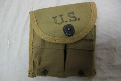 US Military Issue WW2 CAMLIN FASHIONS OF AMERICA M1 Carbine Magazine Pouch 1944