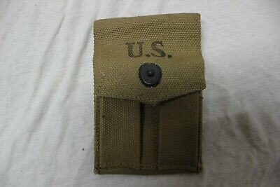 US Military Issue WW2 1911 .45acp Pistol Magazine Pouch Canvas HOFF MFG CO 1942