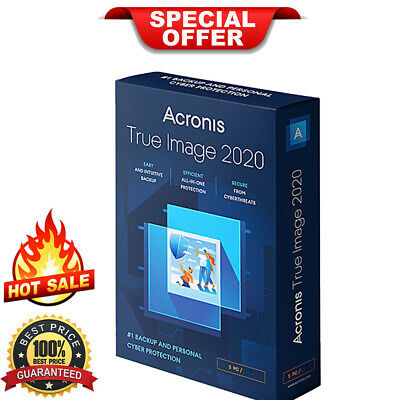 Acronis True Image 2020 | Official Download | Lifetime License [LIMITED OFFER]