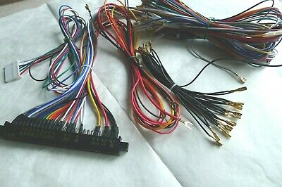 Arcade 60 in 1 multicade JAMMA WIRING HARNESS ARCADE CABINET 28 PIN 6 BUTTONS