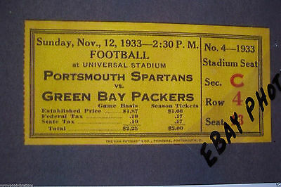 Portsmouth Ohio Oh Spartans Football Detroit Lions / Green Bay Packers  Photo