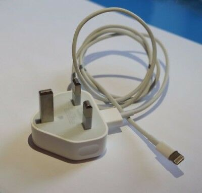 100%Genuine Apple iPhone Mains Plug&USB cable Charger iPhone x 8 7 6 5S 5C 5iPad