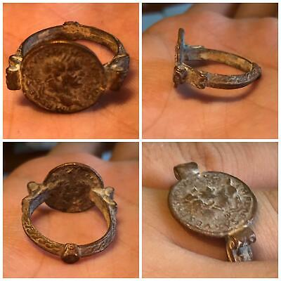 Rare ancient Roman Byzantine bronze ring