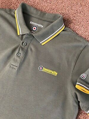Gorgeous Worn Once Khaki Green Lambretta Mod Polo Shirt M Medium