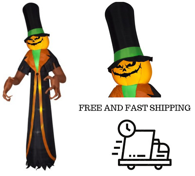 12ft Halloween Airblown Pumpkin Scrooge Outdoor Scary Yard Inflatable Decoration