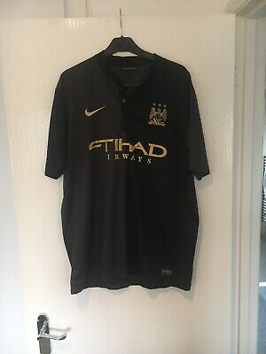 Mens Nike Dri Fit Manchester City Away Shirt 2013-14 Season In Large. Well Used