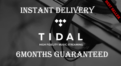 TIDAL Hi-Fi 🔥INSTANT DELIVERY 2Min 🔥 6 Months Guaranteed
